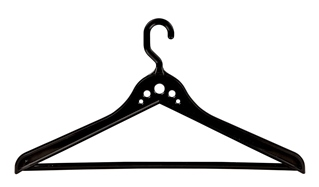 2 flat clothes hangers.