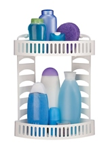 Multi-purpose corner rack, 2 trays